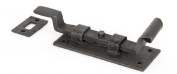 """From The Anvil Fishtail Cranked Door Bolt 4"""" Beeswax"""