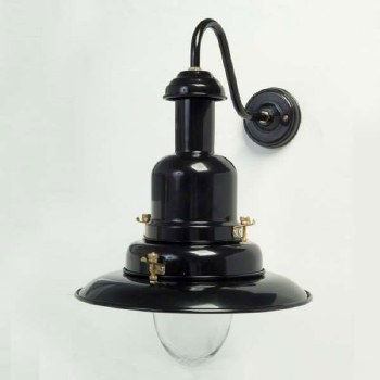 Fishermans Outdoor Wall Light Large Black