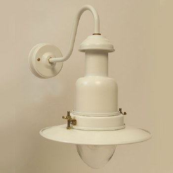 Small Fishermans Outdoor Wall Light Chalk White