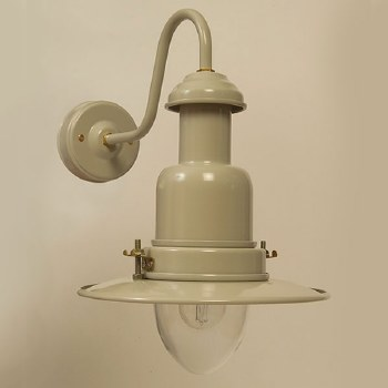 Small Fishermans Outdoor Wall Light Putty Grey