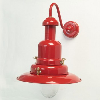 Small Fishermans Outdoor Wall Light Red