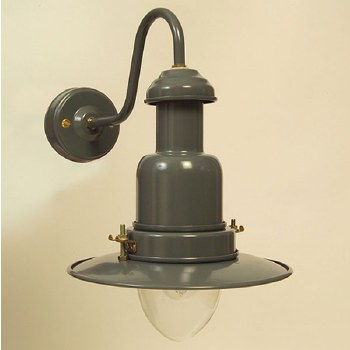 Small Fishermans Outdoor Wall Light Shingle Grey