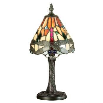 Interiors 1900 Red Dragonfly Tiffany Mini Table Lamp