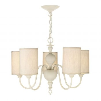 David Hunt FLE0533 Flemish 5 Light Chandelier Cream with Shades