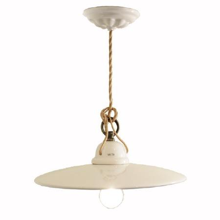Italian Ceramic Flex Pendant Ceiling Light Crema
