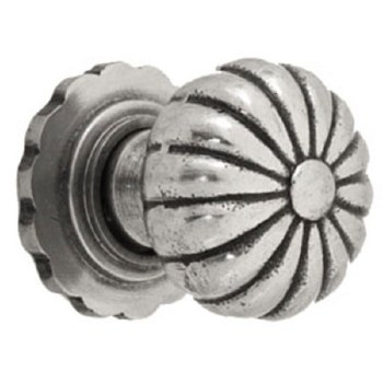 From The Anvil Flower Mortice Door Knobs Natural Smooth