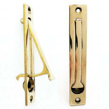 Aston Door Edge Pull Polished Brass Unlacquered