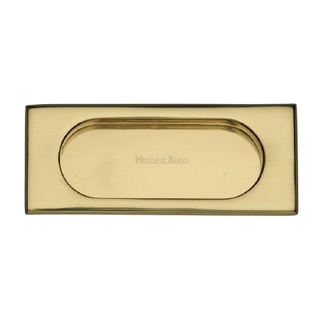 Heritage Flush Pull Handle C1850 105 Polished Brass