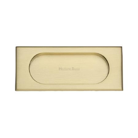 Heritage Flush Pull Handle C1850 105 Satin Brass