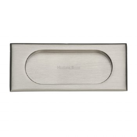 Heritage Flush Pull Handle C1850 105 Satin Nickel