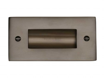 "Heritage Flush Pull Handle 4"" Matt Bronze"