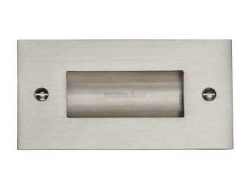 "Heritage Flush Pull Handle 4"" Satin Nickel"