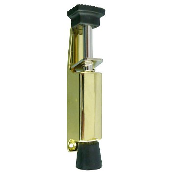 Large Foot Operated Door Holder Brass finish