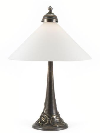 Small Floral Art Nouveau Table Lamp