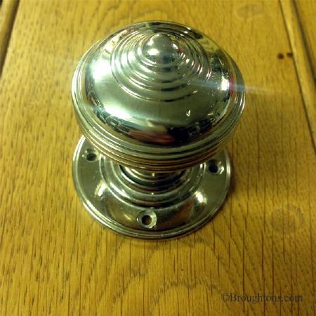 Georgian Door Knobs Polished Nickel