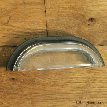 Glass Cup Drawer Pull Handle Bronze Large