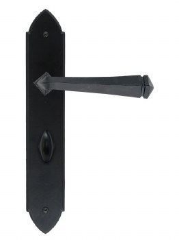 From The Anvil Gothic Bathroom Door Handles Black