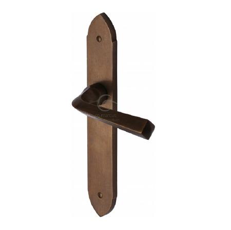 Heritage Grafton Lever Latch Door Handles RBL4410 Solid Rustic Bronze