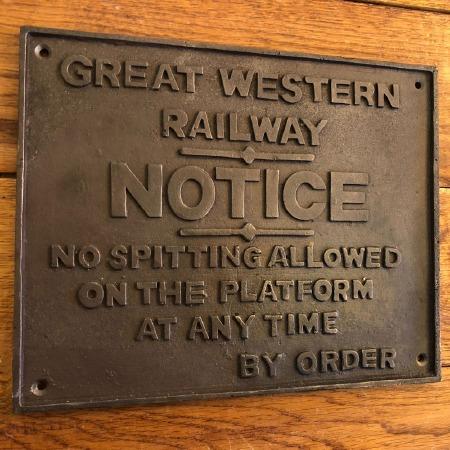 Great Western Railways No Spitting NOTICE