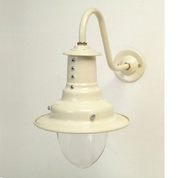 Small Harbour Outdoor Wall Light Cream