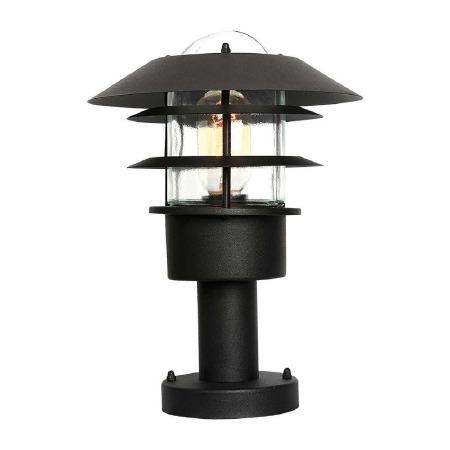Elstead Helsingor Pedestal Lantern Black