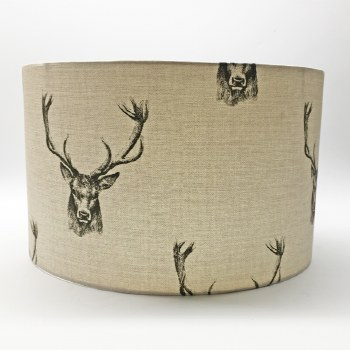 Hereford Pendant 25cm Shade - Stag Design