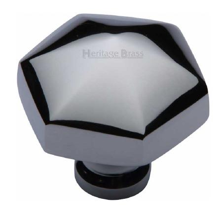Heritage Hexagon Cabinet Knob C2238 Polished Chrome