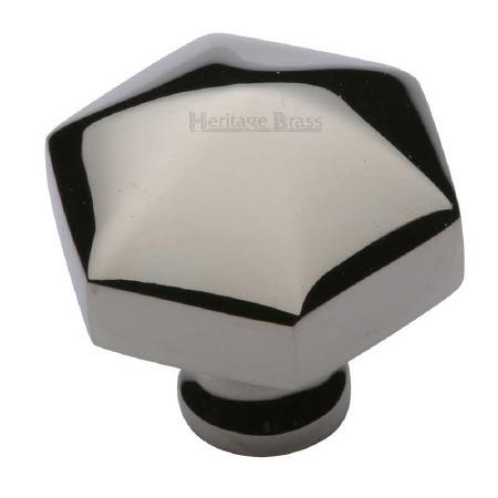 Heritage Hexagon Cabinet Knob C2238 Polished Nickel