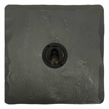 Hand Forged Dolly Switch 1 Gang Anthracite