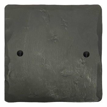 Hand Forged Single Blank Plate Anthracite