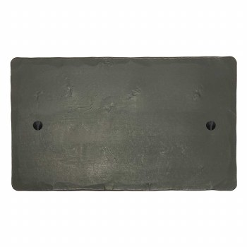 Hand Forged Double Blank Plate Anthracite