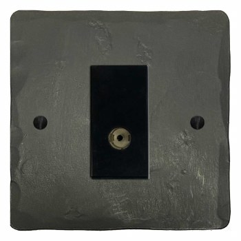 Hand Forged TV Socket Outlet Anthracite