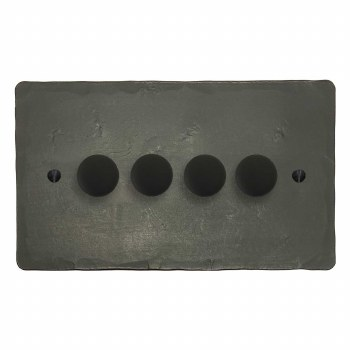 Hand Forged Dimmer Switch 4 Gang Anthracite