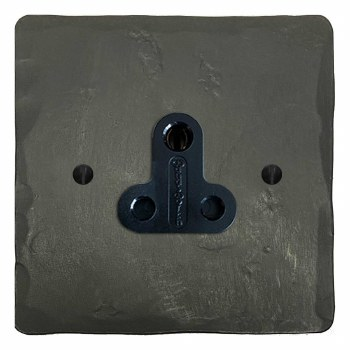 Hand Forged Lighting Socket Round Pin 5A Anthracite