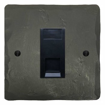 Hand Forged RJ45 Socket CAT 5 Anthracite