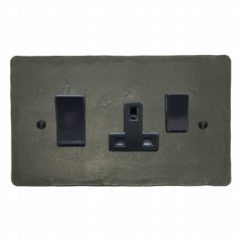 Hand Forged Socket & Cooker Switch Anthracite