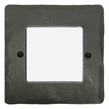 Hand Forged Plate for Modular Electrical Components 50x50mm Anthracite