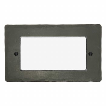 Hand Forged Plate for Modular Electrical Components 50x100mm Hand Forged Anthracite