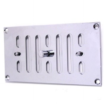 """Hit and Miss Air Vent 6"""" x 3"""" Polished Chrome"""