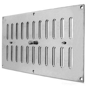 """Hit and Miss Air Vent 12""""x 6"""" Polished Chrome"""