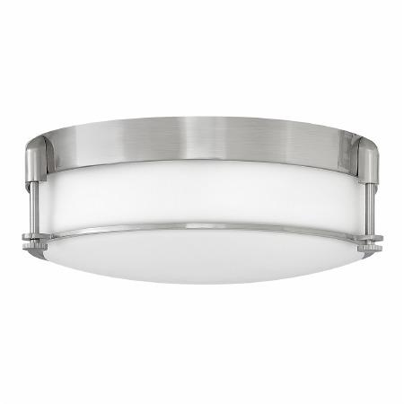 Elstead Colbin Bathroom Flush Light Medium Brushed Nickel