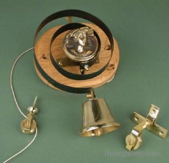 Butler or Housekeepers Bell with Lady Renovated Brass