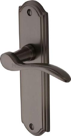Heritage Howard Latch Door Handles HOW1310 Matt Bronze