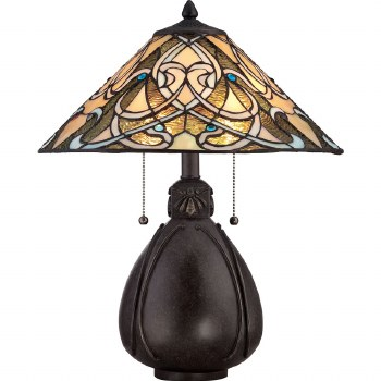 Quoizel India Tiffany Table Lamp