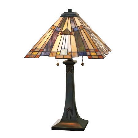 Quoizel Inglenook Tiffany Table Lamp Valiant Bronze