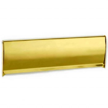"Croft Interior Flap 12""x4"" Polished Brass Unlacquered"