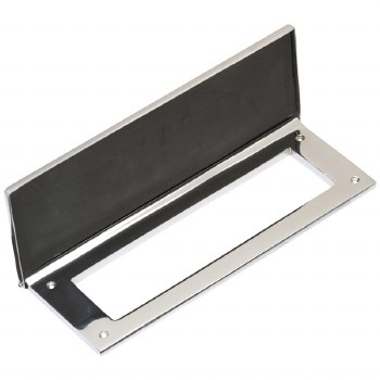 """Internal Letter Plate/Tidy 10"""" Polished Chrome"""