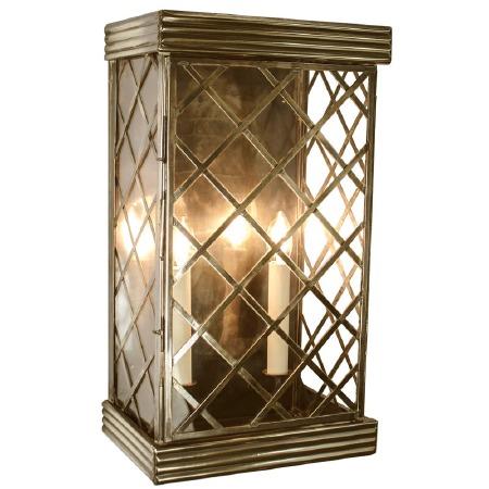 Ivy Large Flush Outdoor Wall Lantern - Light Antique Brass