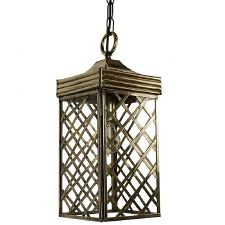 Ivy Hanging Lantern Small - Light Antique Brass