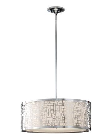 Feiss Joplin Large Pendant Light Polished Chrome